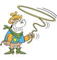 Cartoon Lariat Cow vector image vector image