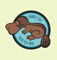 cartoon platypus or duckbill sign template vector image vector image