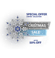 christmas sale poster vector image
