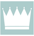 crown the white color icon vector image