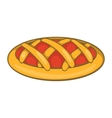Delicious cherry pie icon cartoon style vector image vector image