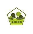 earth day world ecology green nature icon vector image vector image