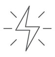 energy thin line icon electric and power vector image