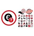 Euro Status Flat Icon with Bonus vector image vector image