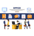 flat business office concept vector image vector image