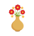 Flowers in vase vector image vector image
