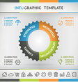Gear Infographic vector image vector image