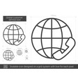 global customer service line icon vector image