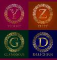 golden templates for yummy zippy glamorous vector image vector image