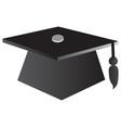 graduation cap education symbol vector image vector image