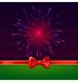 Holiday bright salute background with light rays vector image