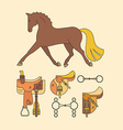 Horse Elements vector image vector image