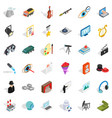 human resource icons set isometric style vector image vector image