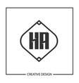 initial ha letter logo template design vector image vector image