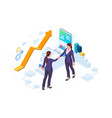 isometric business to business marketing b2b vector image vector image