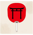 japanese fan japanese gate background image vector image