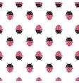 ladybug pattern vector image vector image
