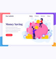 landing page design concept investment people vector image vector image