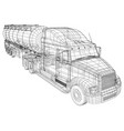 large truck tanker with trailer isolated on grey vector image vector image