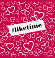 liketime template for social media blog vector image vector image