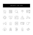 line icons set security pack vector image vector image