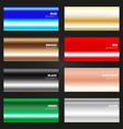 multicolor gradient texture set various color vector image vector image