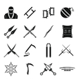 Ninja tools icons set simple style vector image vector image