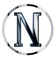 nu greek letter vector image vector image