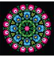 Polish traditional circle folk art pattern vector image vector image