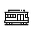 public transport cable car thin line icon vector image vector image