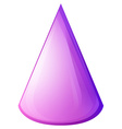 Purple cone form on white vector image vector image