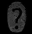 question mark on a fingerprint vector image