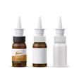 realistic nasal spray white bottle mockup vector image vector image