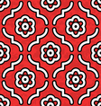 Red black and white moroccan flowers vector | Price: 1 Credit (USD $1)