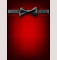 red holiday background with black bow vector image vector image
