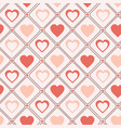 retro seamless pattern pastel hearts romantic vector image