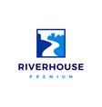 river house creek logo icon vector image