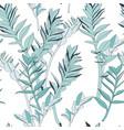 seamless tropical pattern vivid tropic foliage vector image vector image