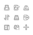 smartphone protection line outline icon vector image