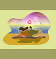 social media beach vector image