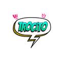 spanish language comic text sound pop art vector image