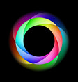 spiral ring in bright and diffused colors on vector image vector image