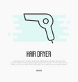 thin line icon of hairdryer element of logo vector image vector image