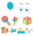 toys set icons in cartoon style big collection of vector image