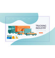 urban transport in flat style trucking industry vector image vector image