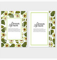veggie lover elements template of invitation or vector image vector image