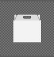 white cardboard lunch box vector image vector image