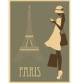 Woman in Paris vector image vector image
