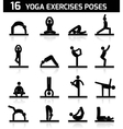 Yoga exercises icons black vector image vector image