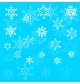 Christmas snowflake on blue sky background vector image